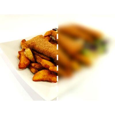 Rántott sajt (trappista) - fél adag
