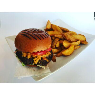 Prémium sajtburger menü