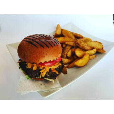 Prémium BBQ burger menü