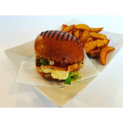 Vega burger menü rántott sajttal