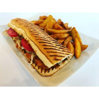 Vaslapos szendvics menü rántott csirkemellel