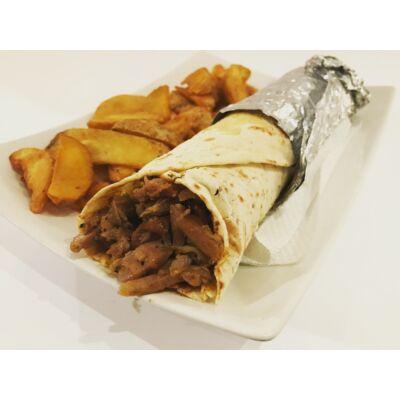Tortilla tekercs menü gyros hússal