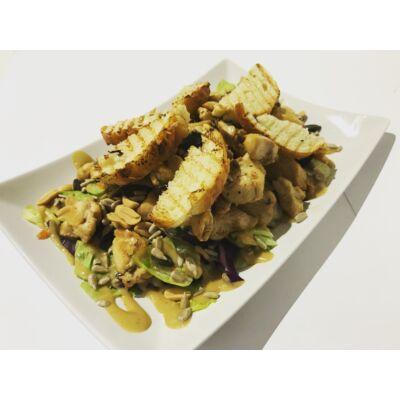 4 magvas saláta csirkecsíkokkal, ezersziget öntettel
