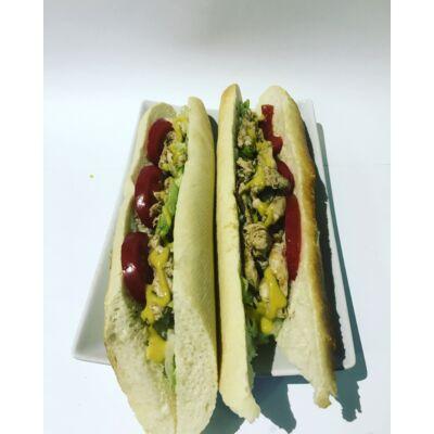 Roston csirkemelles  vaslapos szendvics