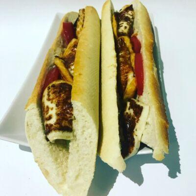 Vega vaslapos szendvics grillezett sajttal