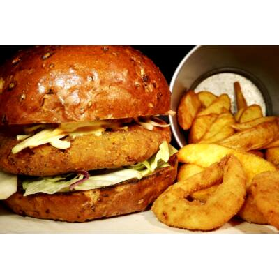 Vega burger menü
